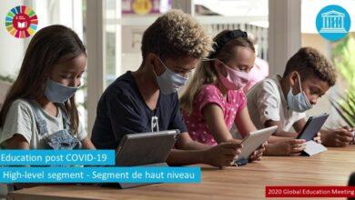 Photo de Lors de la réunion mondiale de l'UNESCO sur l'éducation post-COVID-19 : l'ICESCO appelle à un réexamen des systèmes éducatifs